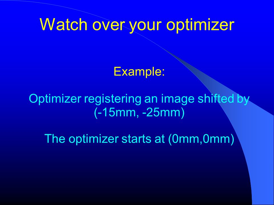 Watch over your optimizer