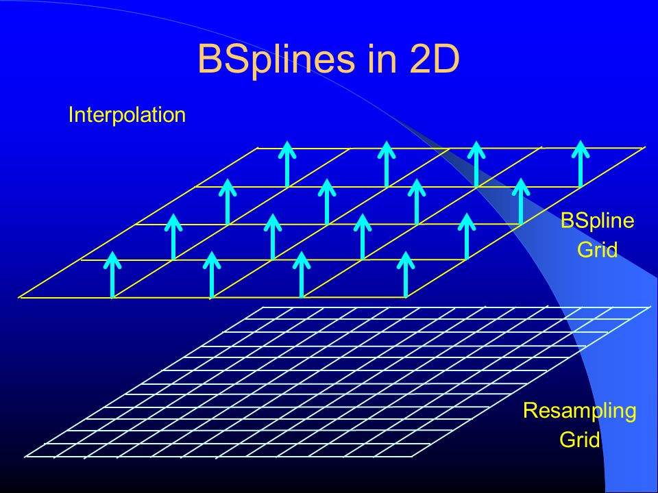 BSplines in 2D Interpolation BSpline Grid Resampling Grid