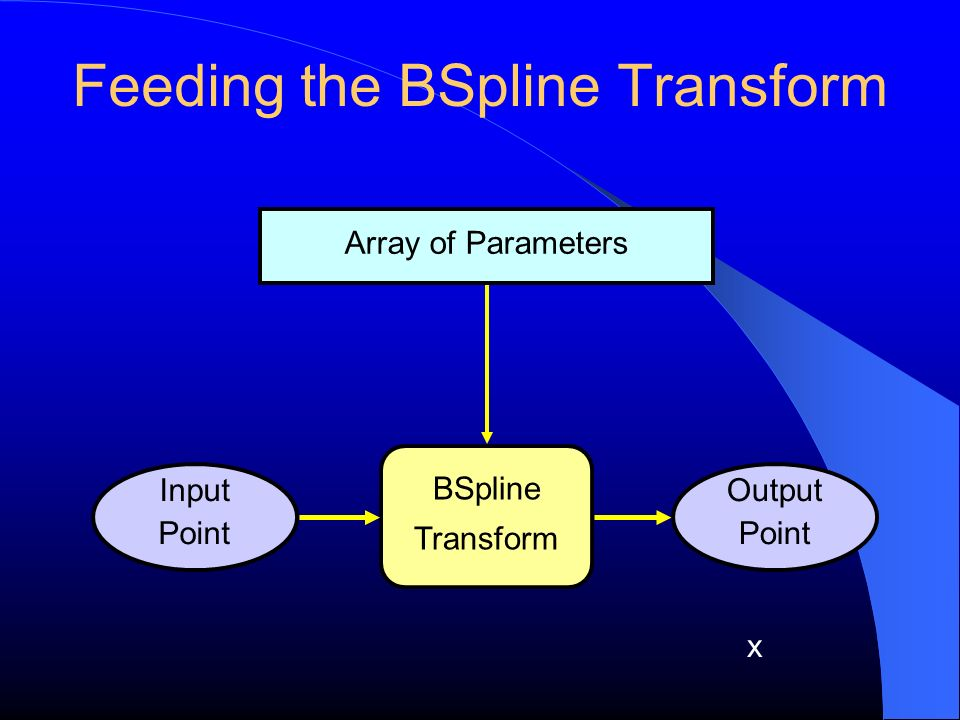 Feeding the BSpline Transform