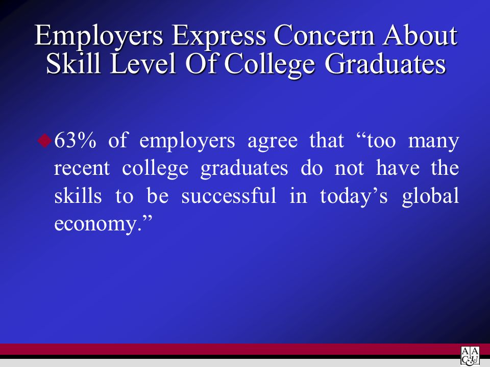 Employers Express Concern About Skill Level Of College Graduates