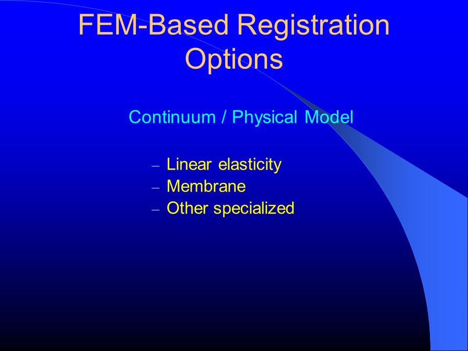 FEM-Based Registration Options