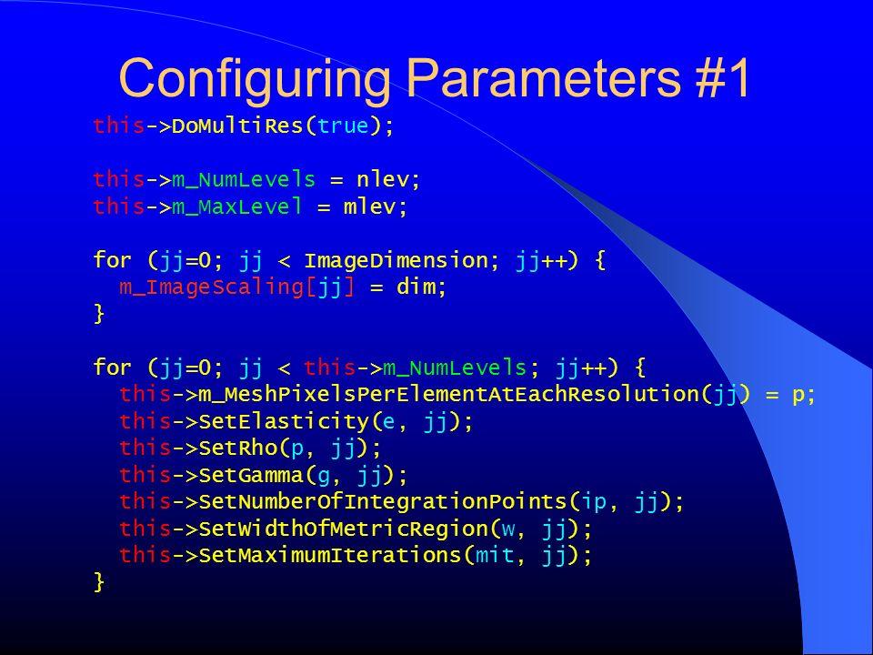 Configuring Parameters #1
