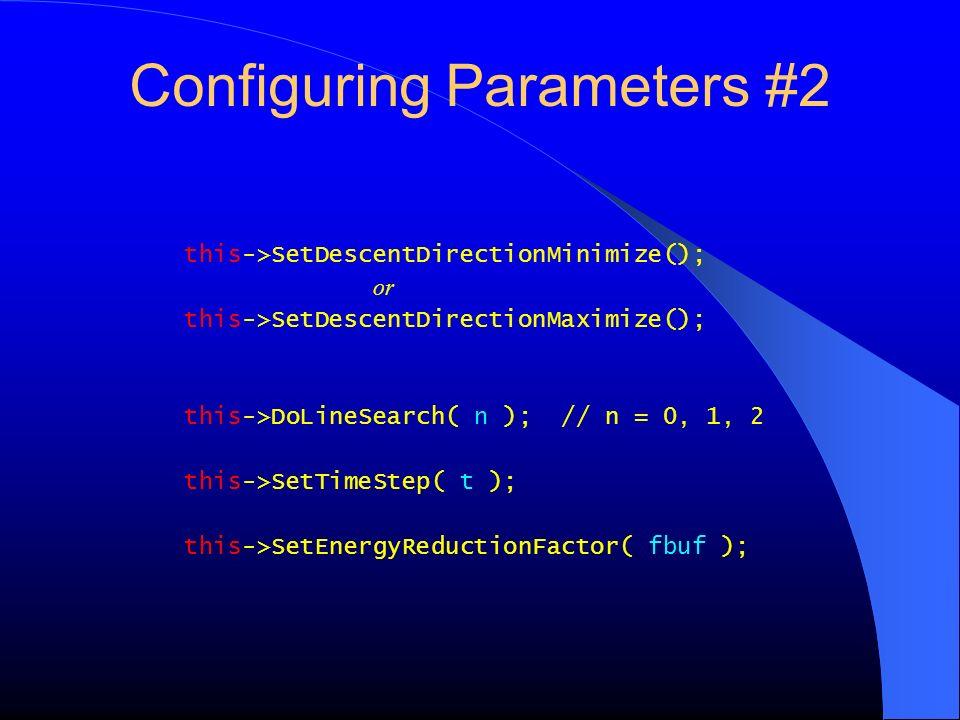 Configuring Parameters #2