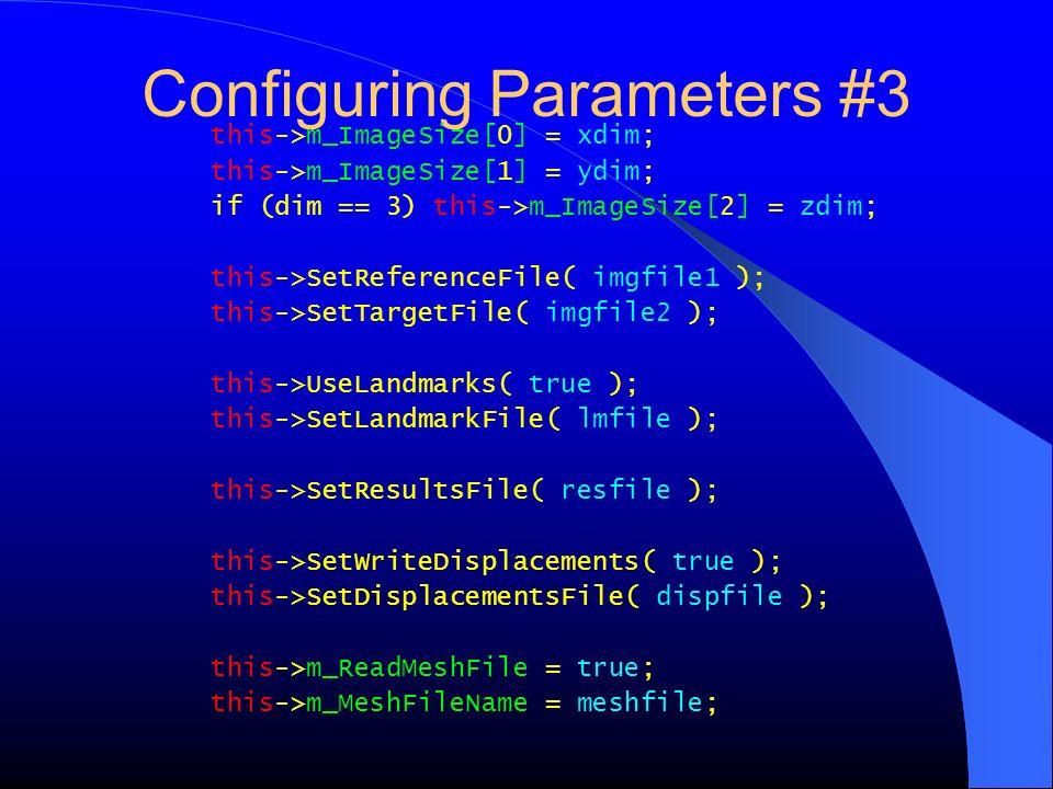Configuring Parameters #3