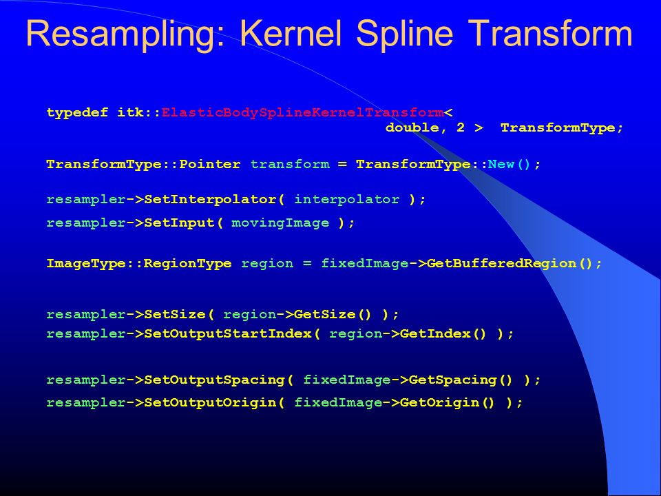 Resampling: Kernel Spline Transform
