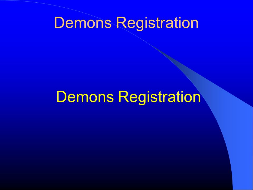 Demons Registration Demons Registration