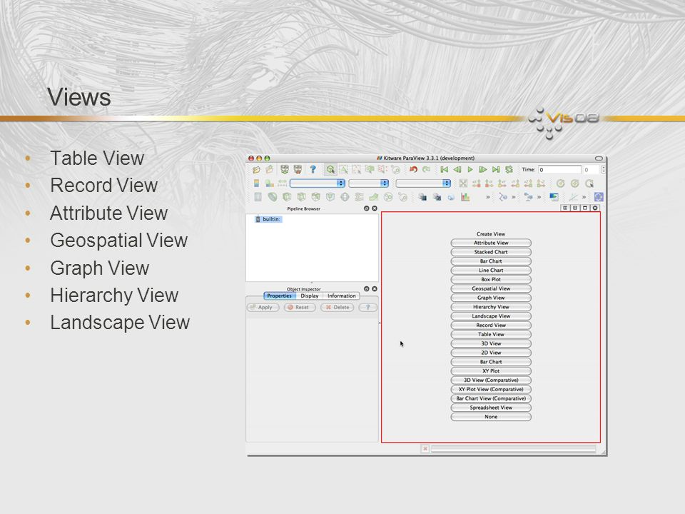 Views Table View Record View Attribute View Geospatial View Graph View