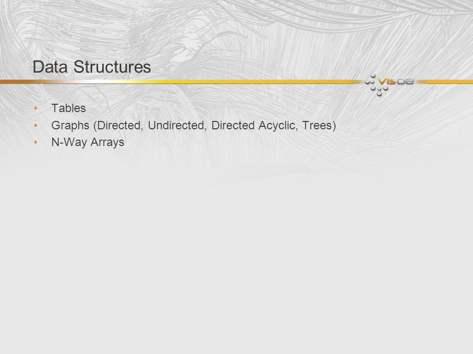 Data Structures Tables