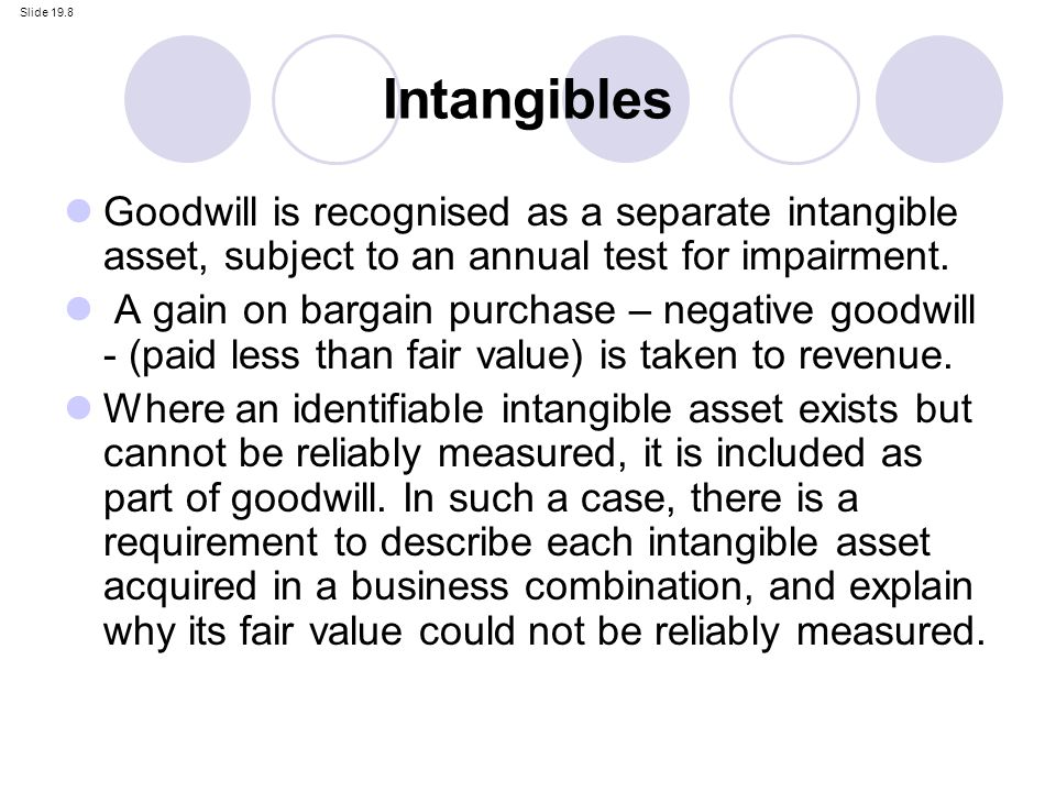 goodwill is an intangible asset Goodwill is a long-term (or noncurrent) asset categorized as an intangible asset goodwill arises when a company acquires another entire business the amount of goodwill is the cost to purchase the business minus the fair market value of the tangible assets, the intangible assets that can be.