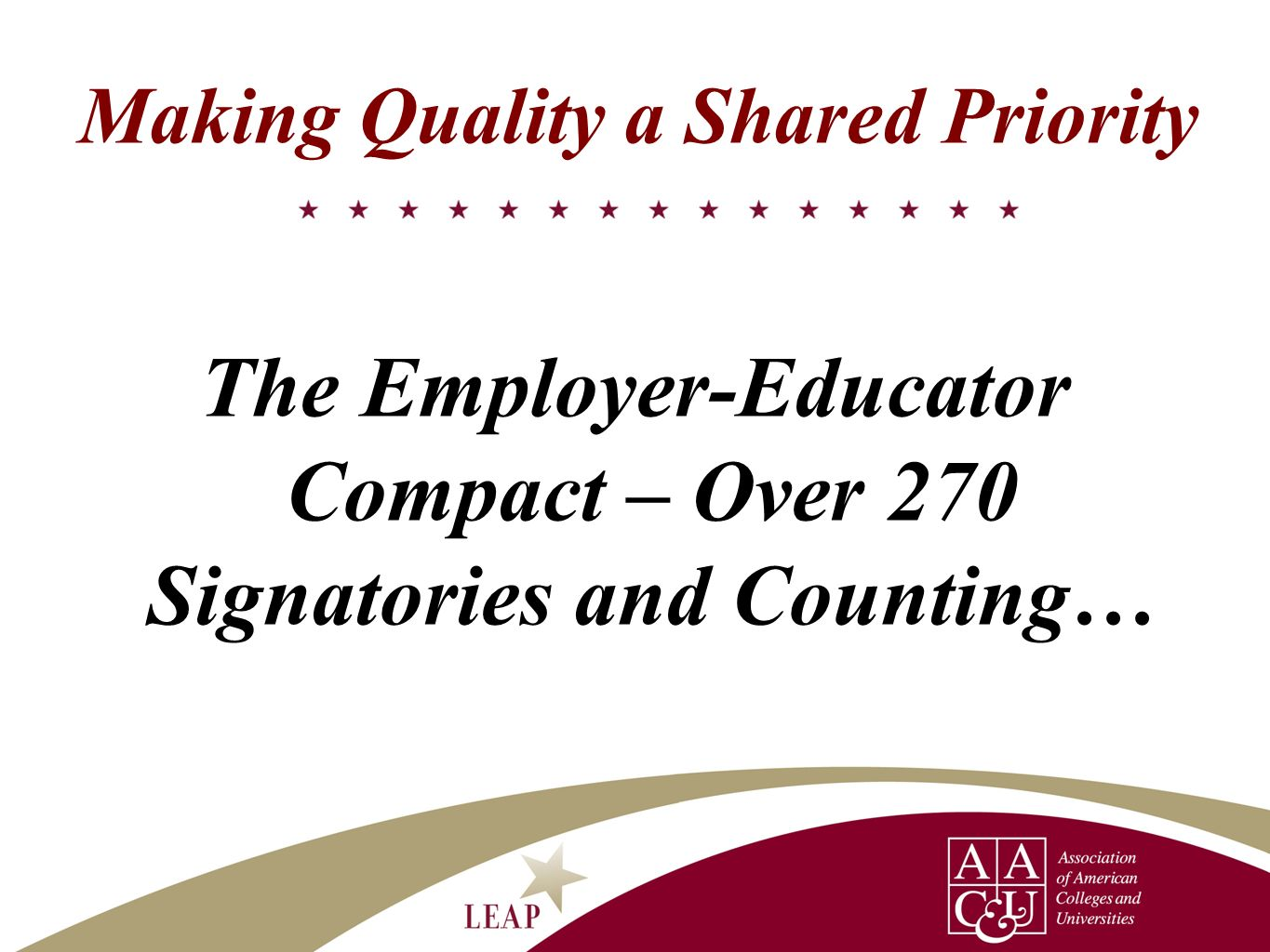 Making Quality a Shared Priority