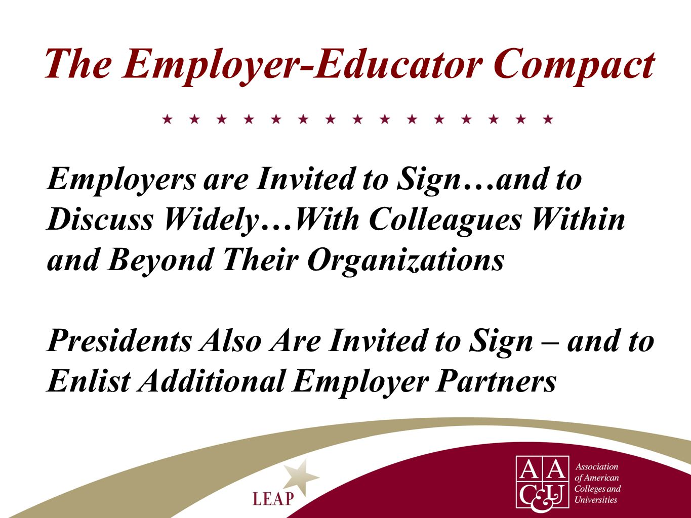 The Employer-Educator Compact