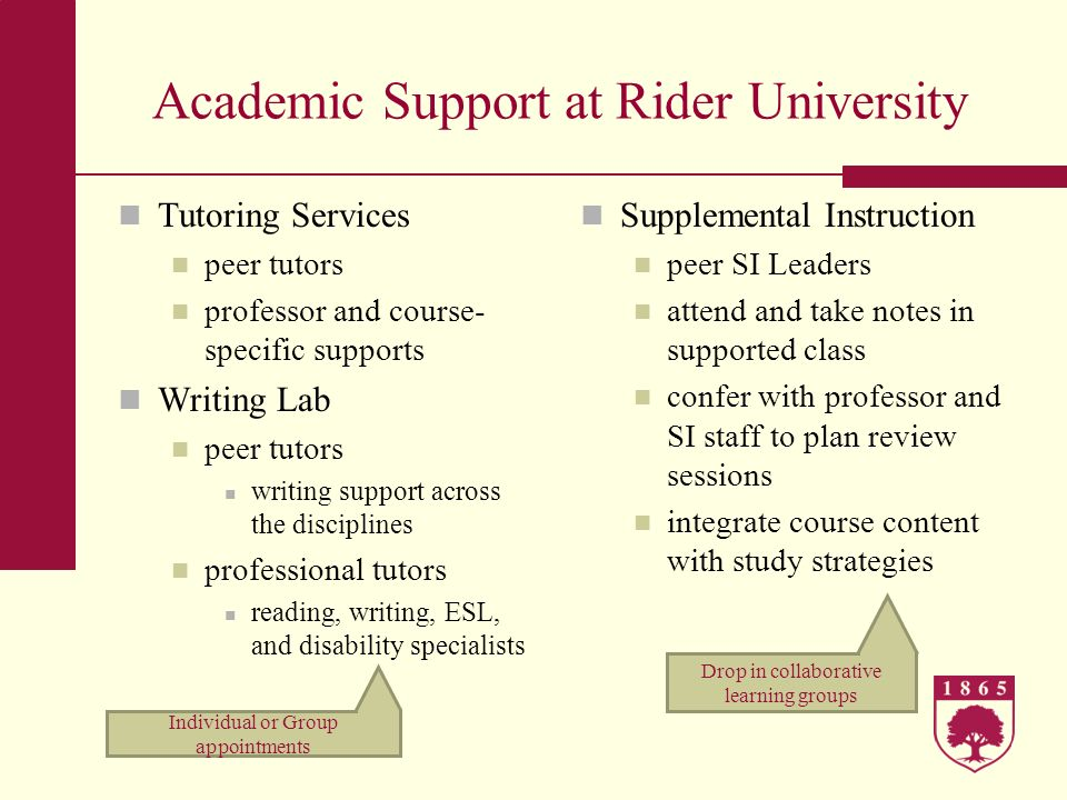 Academic Support at Rider University