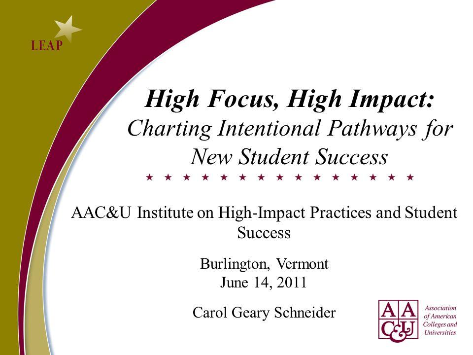 High Focus, High Impact: