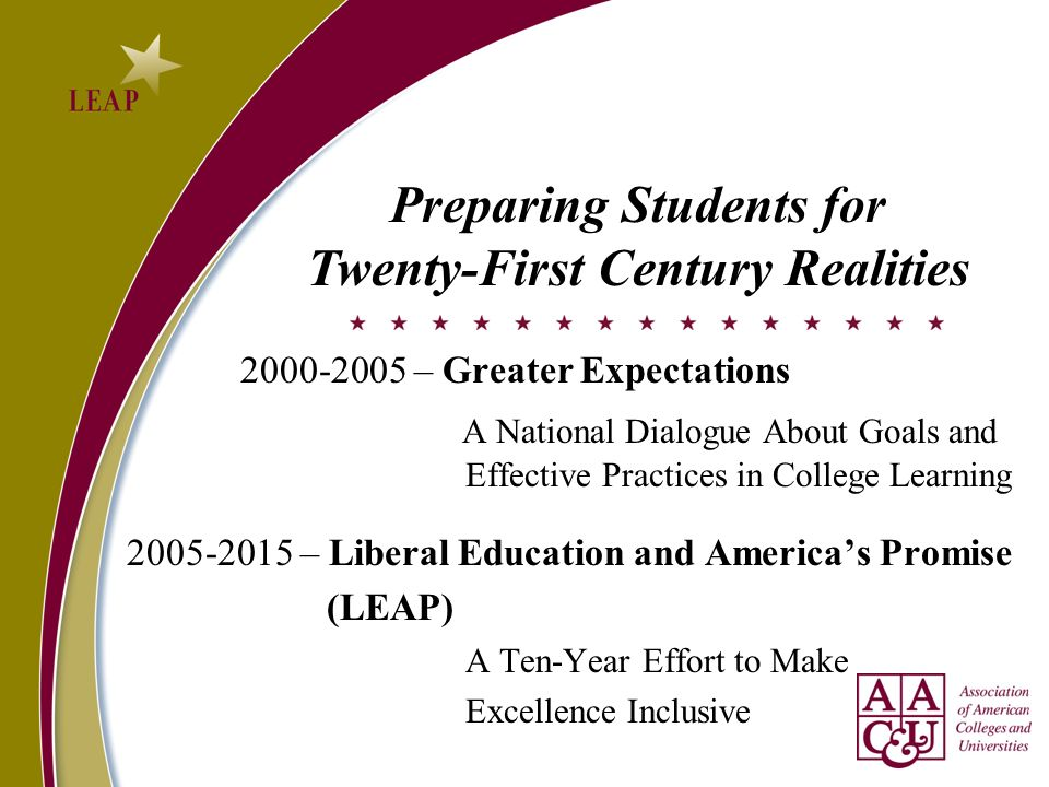 Preparing Students for Twenty-First Century Realities