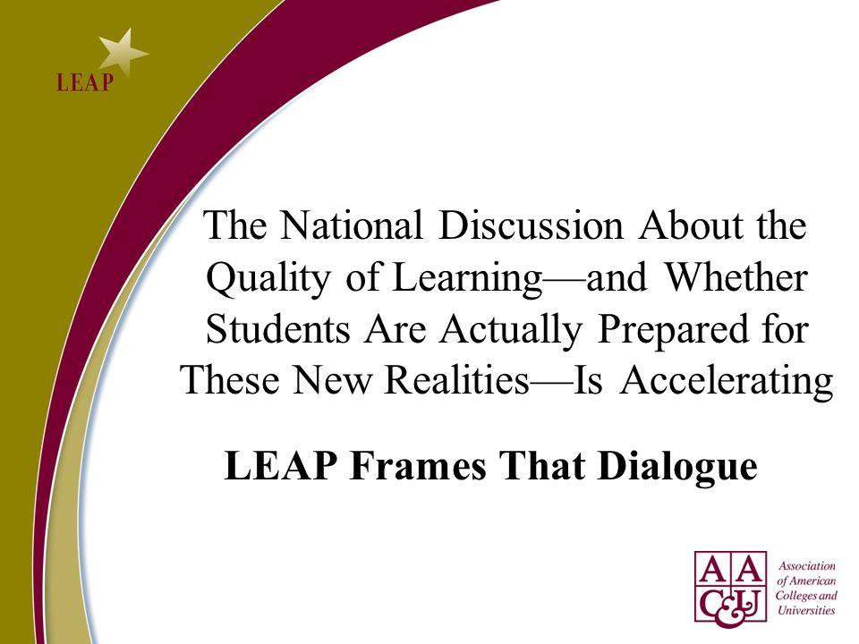LEAP Frames That Dialogue