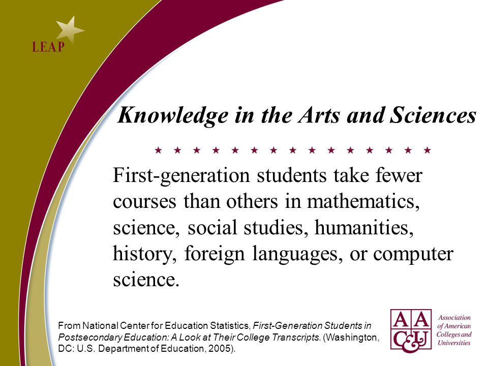 Knowledge in the Arts and Sciences
