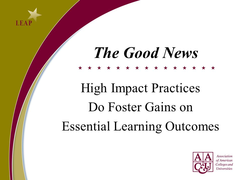 High Impact Practices Do Foster Gains on Essential Learning Outcomes