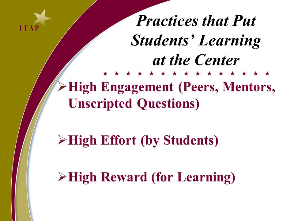 Practices that Put Students' Learning at the Center