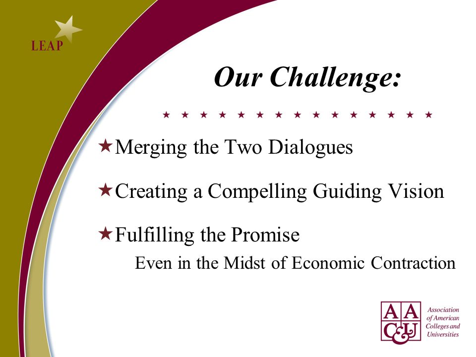 Our Challenge: Merging the Two Dialogues