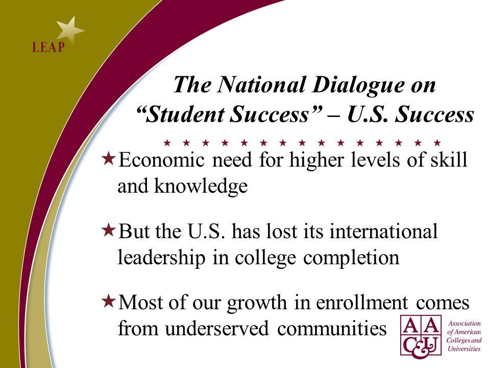 The National Dialogue on Student Success – U.S. Success