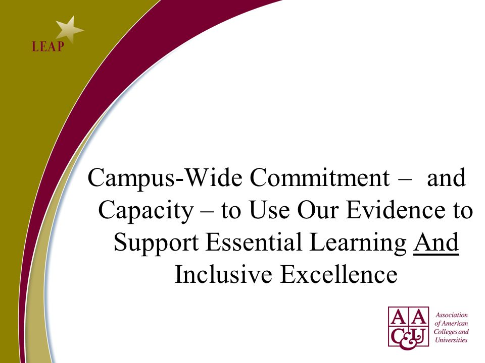 Campus-Wide Commitment –