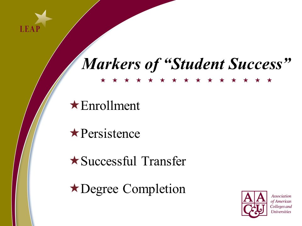Markers of Student Success