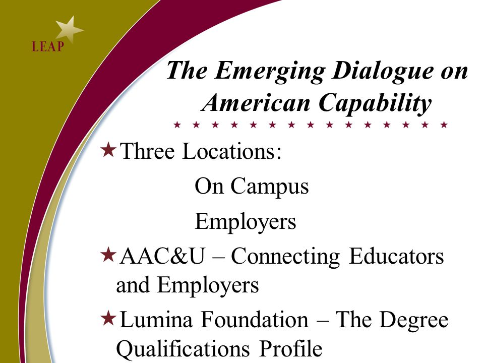 The Emerging Dialogue on American Capability