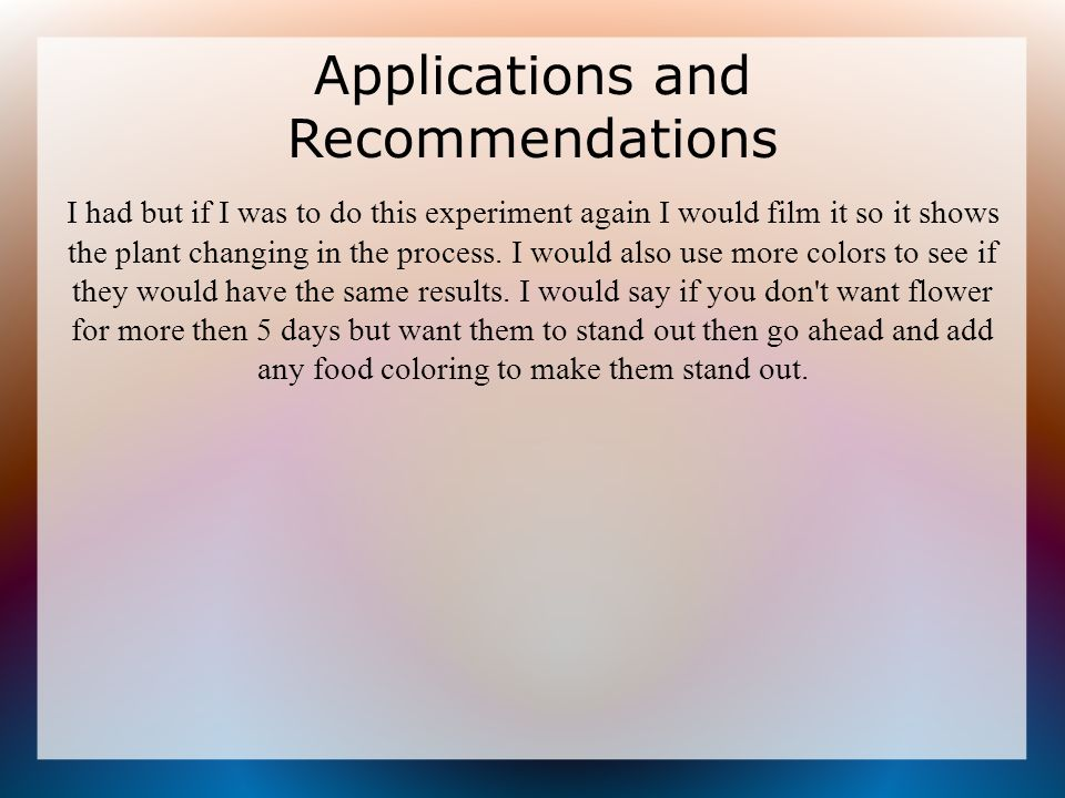 Effects of food coloring on a flower - ppt download
