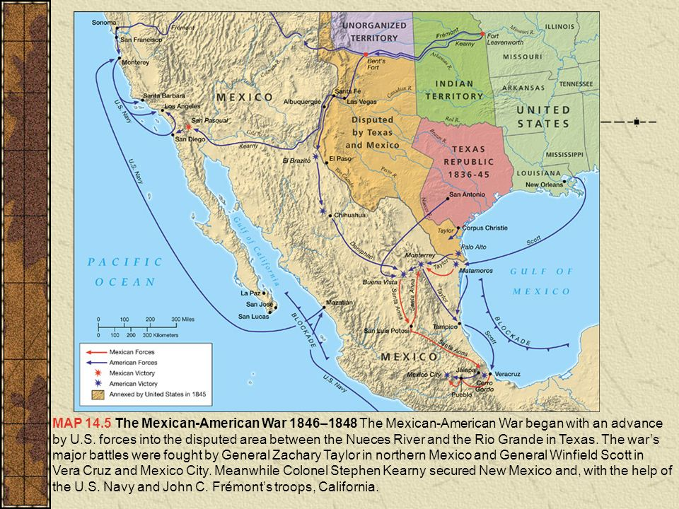 1848 Map Of Us - Us-map-before-mexican-american-war