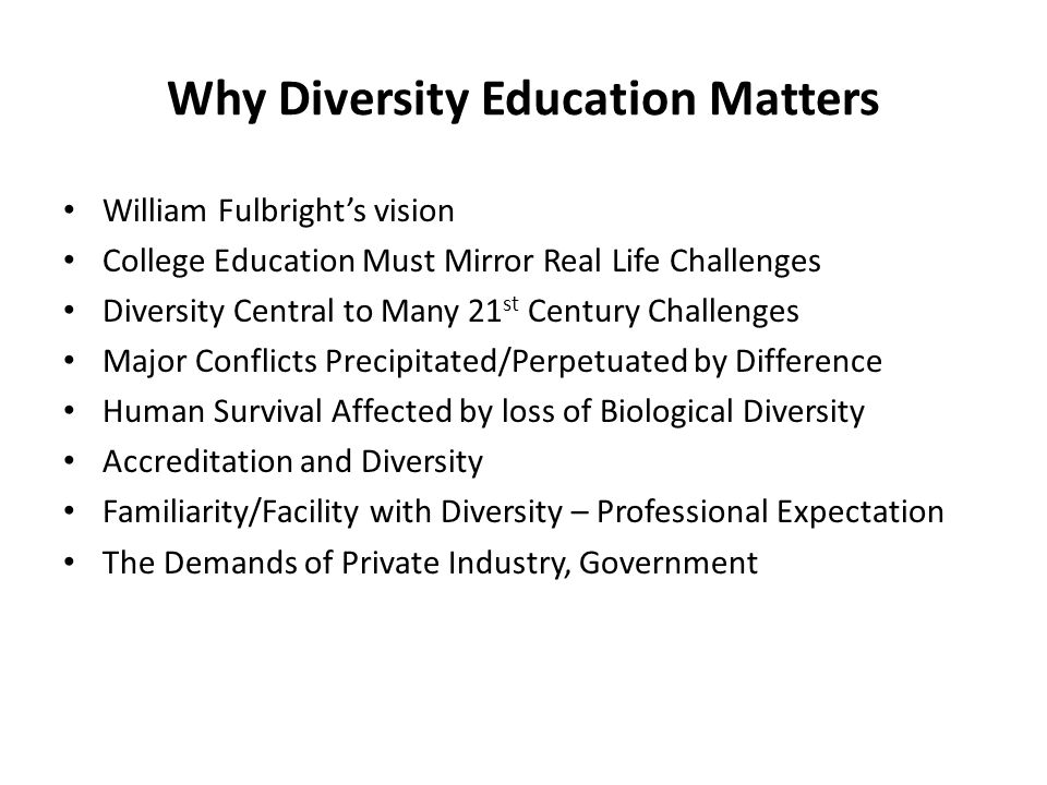 Why Diversity Education Matters