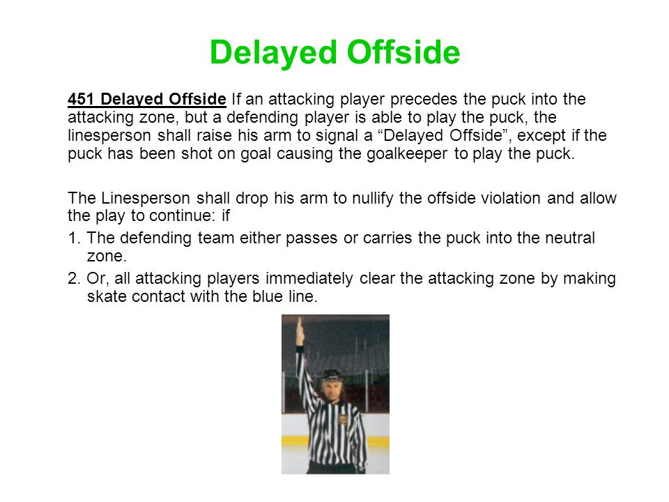 Delayed Offside