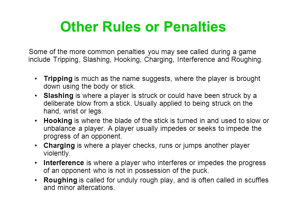 Other Rules or Penalties