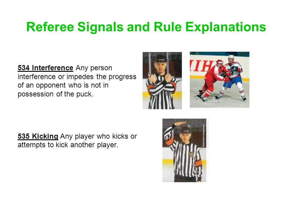 Referee Signals and Rule Explanations