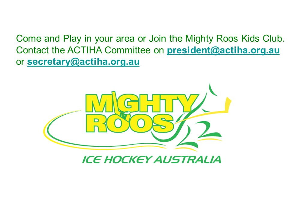 Come and Play in your area or Join the Mighty Roos Kids Club.