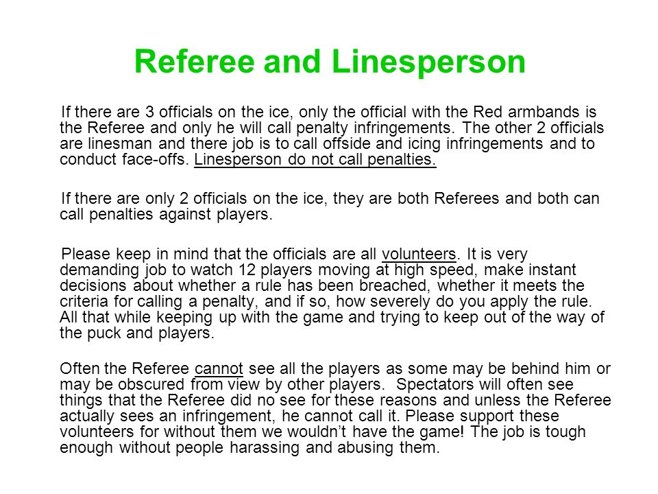 Referee and Linesperson