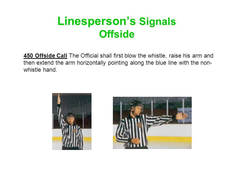 Linesperson's Signals Offside
