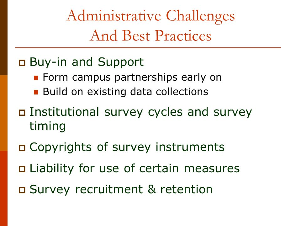 Administrative Challenges And Best Practices