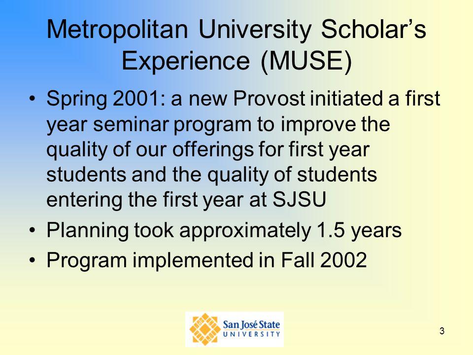 Metropolitan University Scholar's Experience (MUSE)