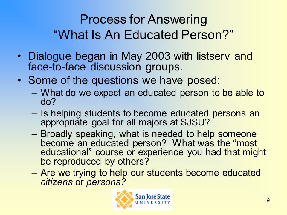 Process for Answering What Is An Educated Person