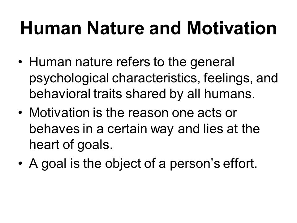 human motivation The relevance of the concept of motivation to human performance technology performance motivation.