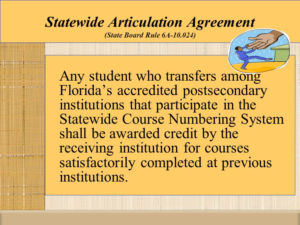 Statewide Articulation Agreement (State Board Rule 6A )