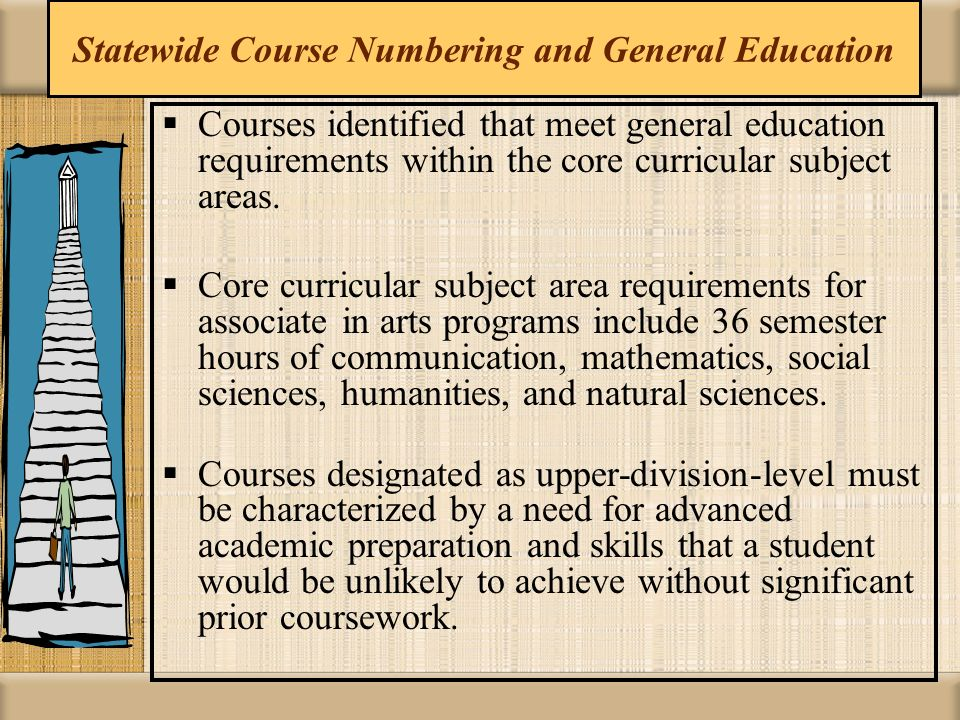 Statewide Course Numbering and General Education