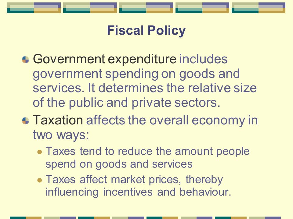 two methods government use to influence the consumption of demerit goods The government receipts and expenditures account what's happening to the pattern of spending on goods and services in the economy and product accounts (nipas) produced by the bureau of economic analysis (bea) the nipas are a set of economic.