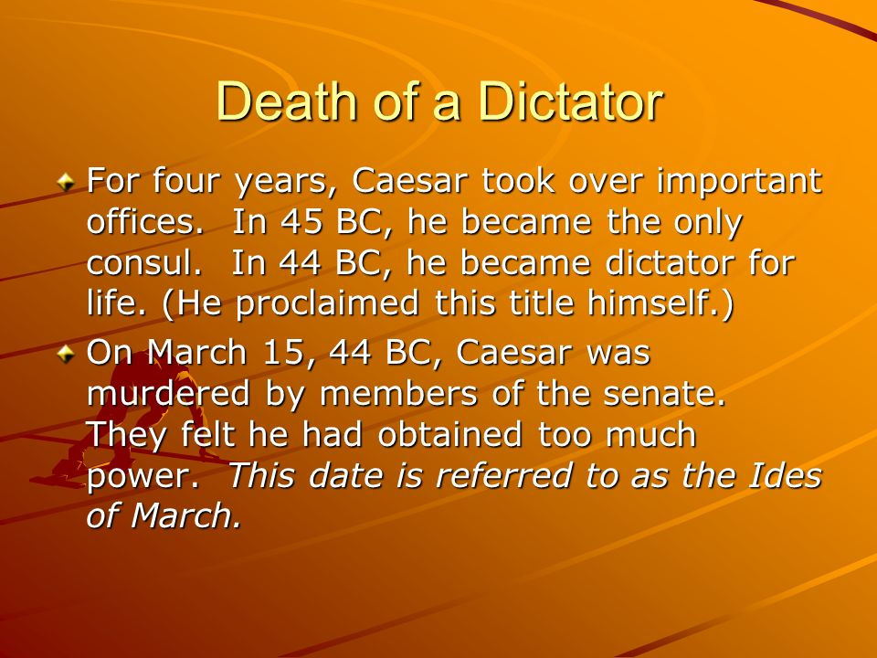 Death of a Dictator