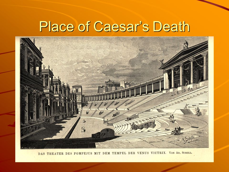 Place of Caesar's Death