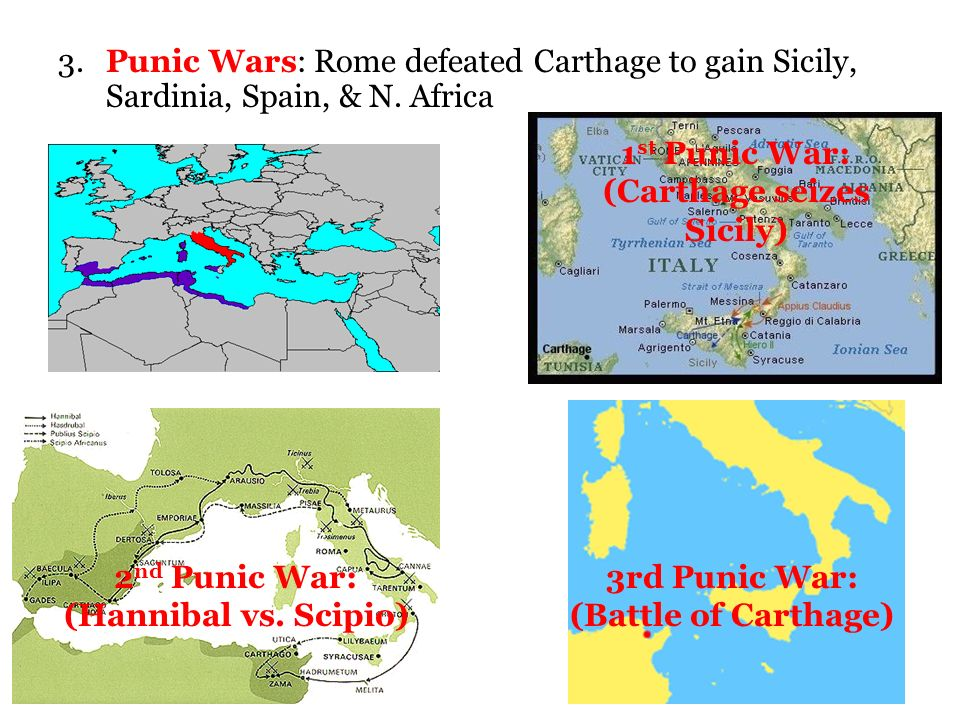 the punic wars and carthage Punic wars the story of how rome expanded 264-146 bc first punic war c carthage already had people on the island, but rome wanted to invade and take over r.
