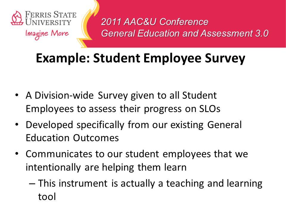 Example: Student Employee Survey