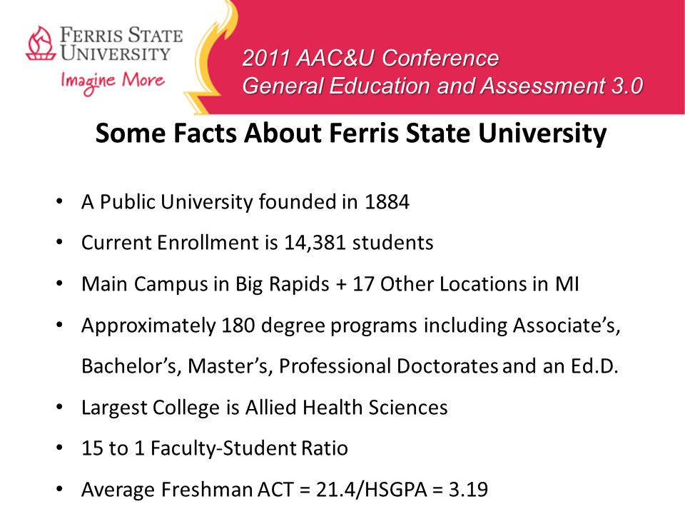 Some Facts About Ferris State University