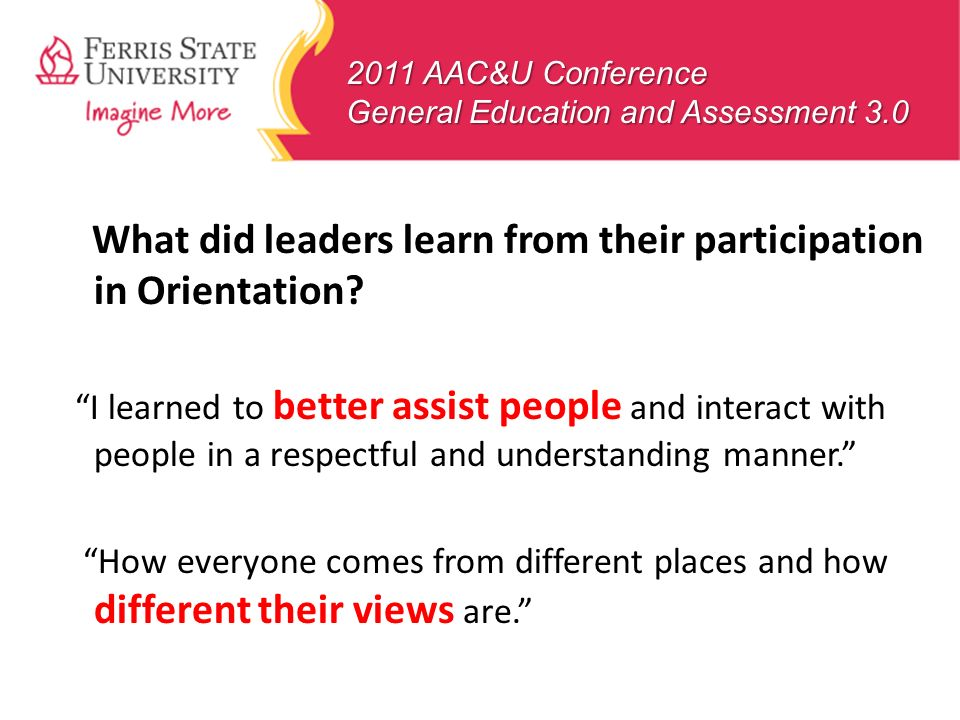 What did leaders learn from their participation in Orientation