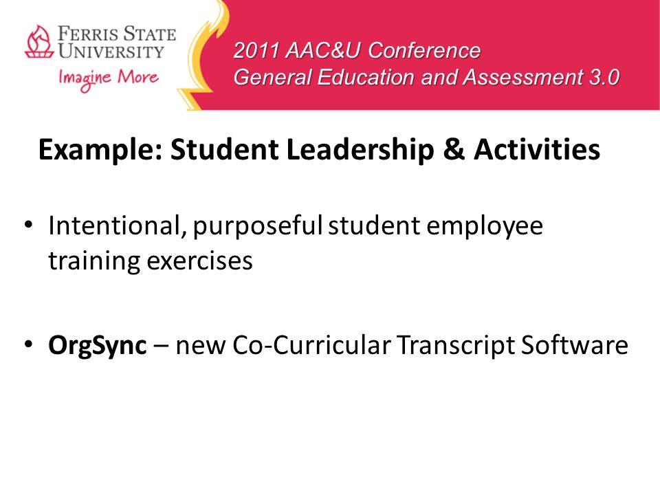 Example: Student Leadership & Activities